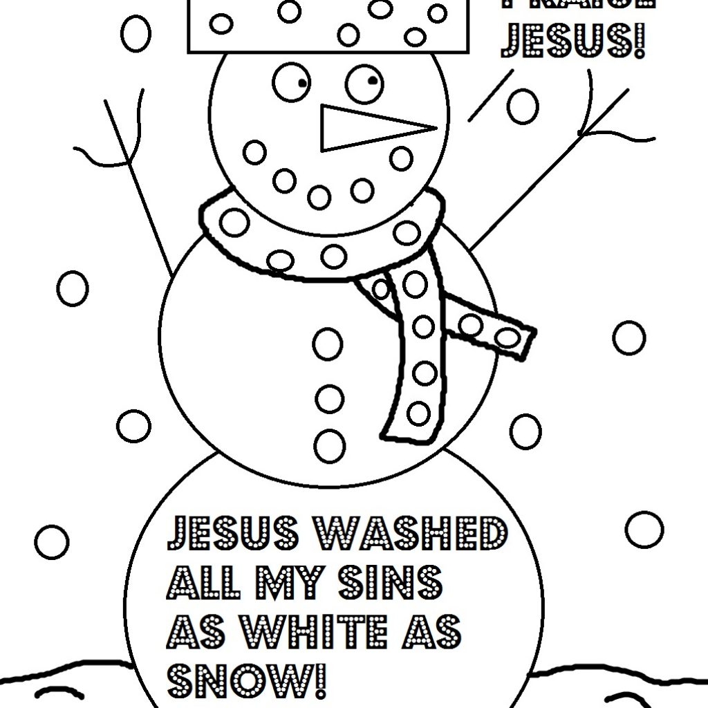 Religious Christmas Coloring Pages To Print With Christian Gamz Me