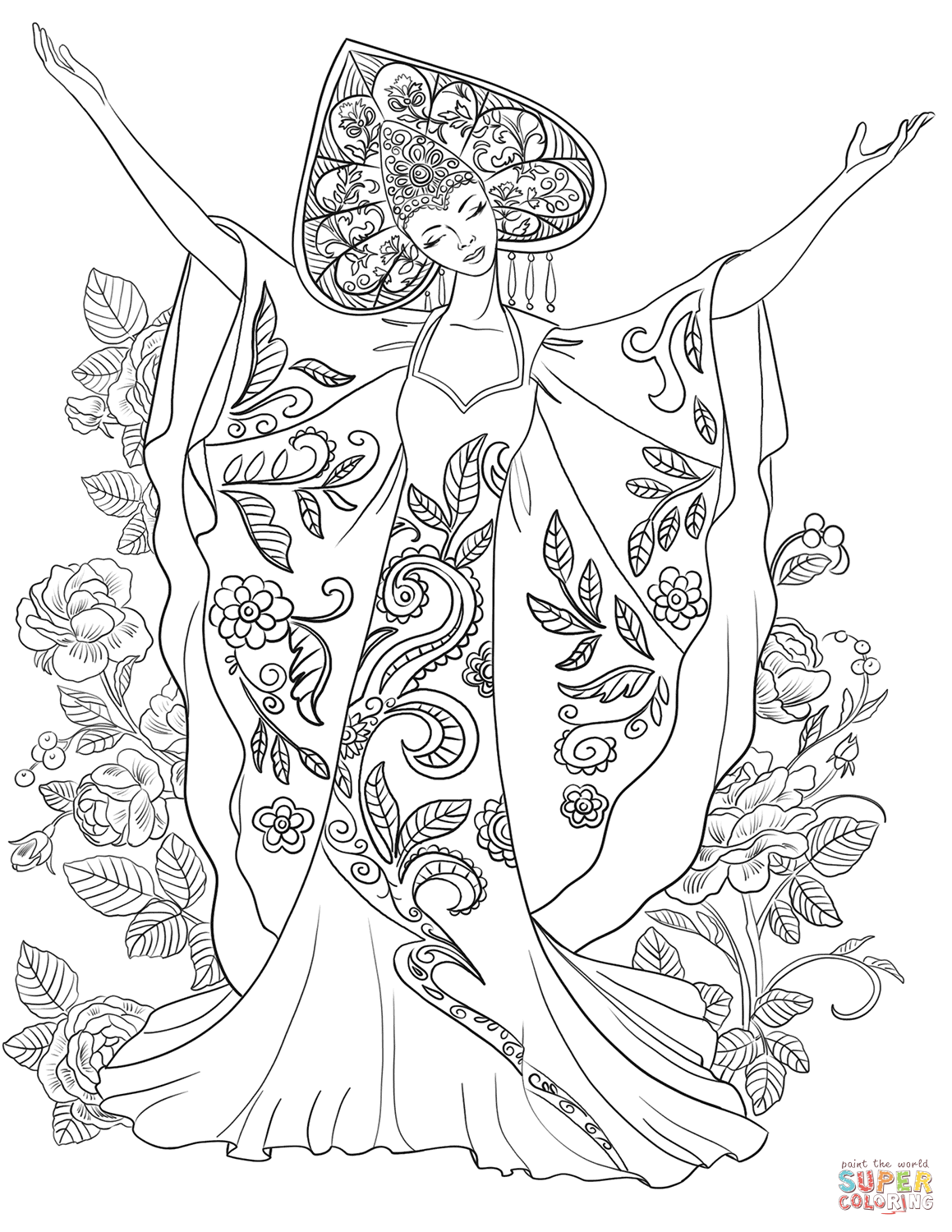 Russian Christmas Coloring Pages With Russia Free