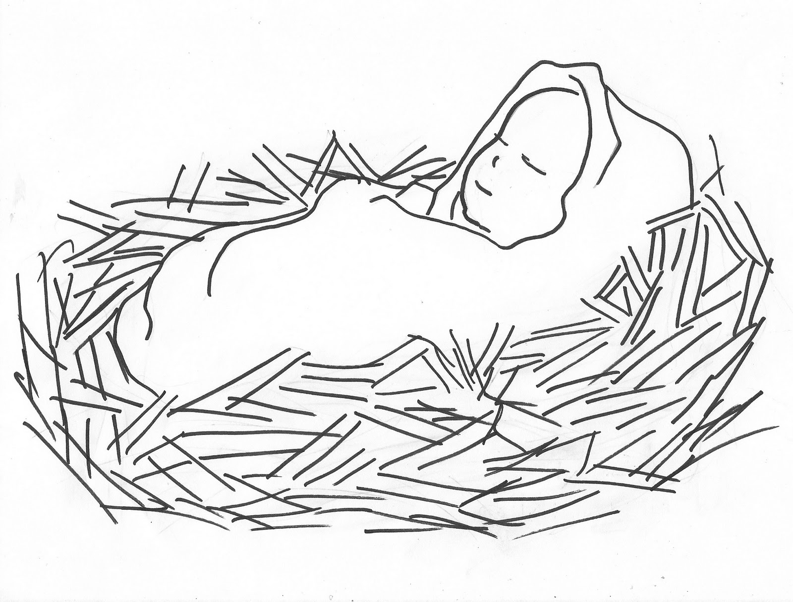 Santa And Baby Jesus Coloring Page With Free Christmas Pictures Of Download Clip Art