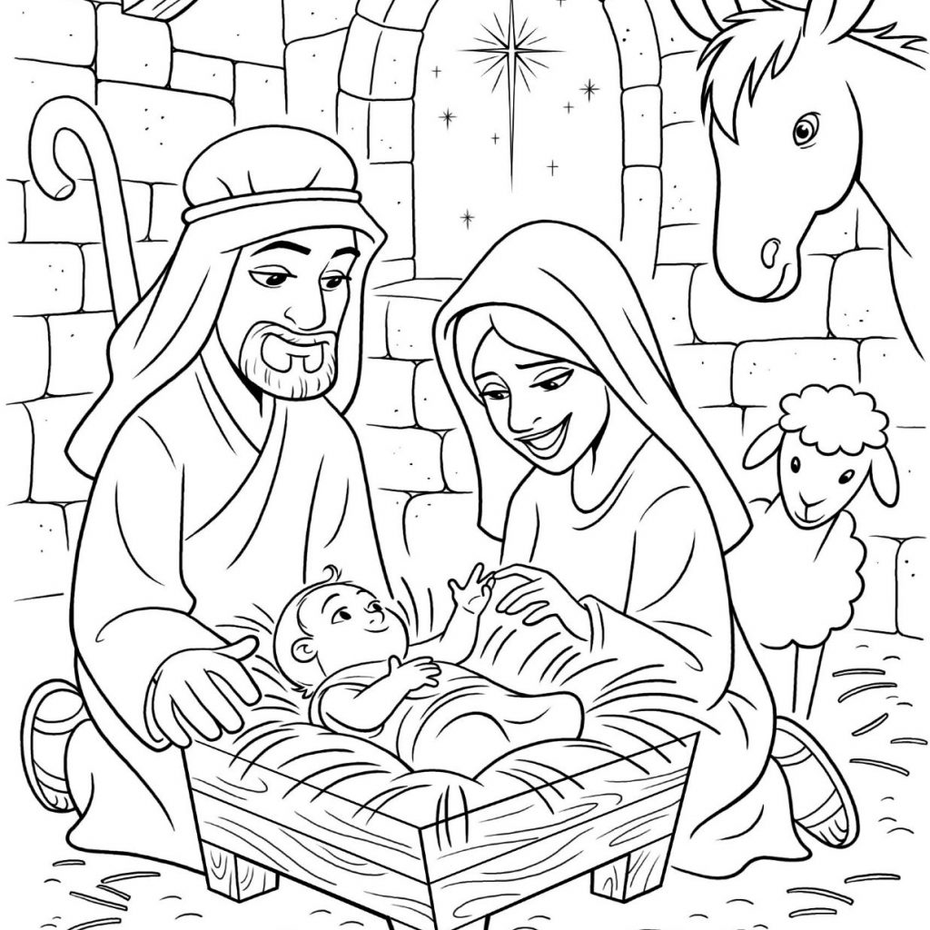 Santa And Baby Jesus Coloring Page With Lds Nativity Pages Google Search