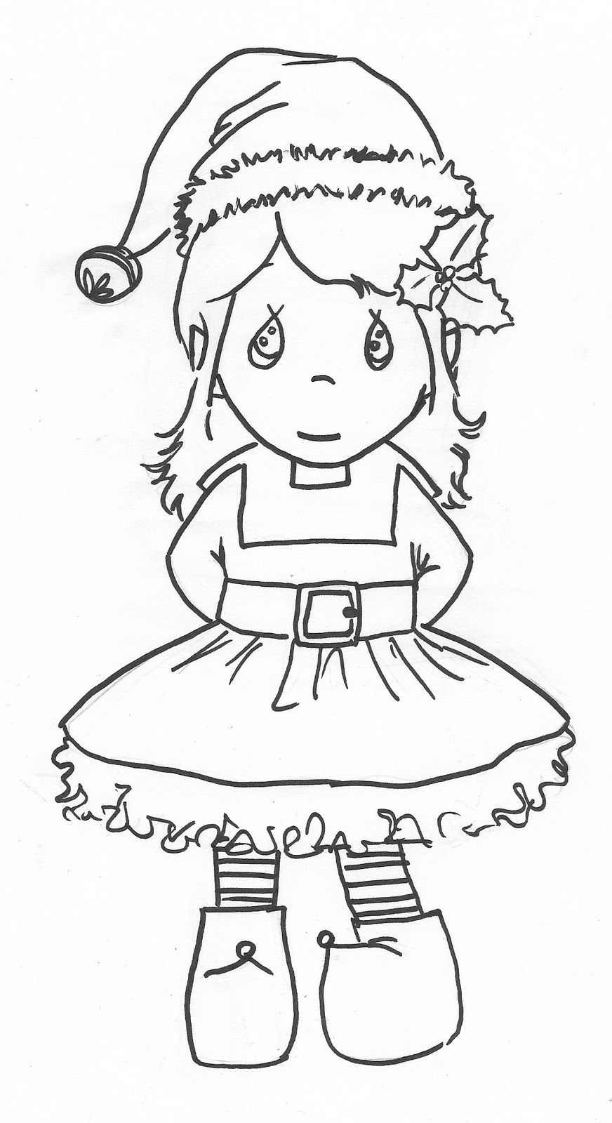 Santa And His Elves Coloring Pages With Christmas Drawing At GetDrawings Com Free For Personal Use