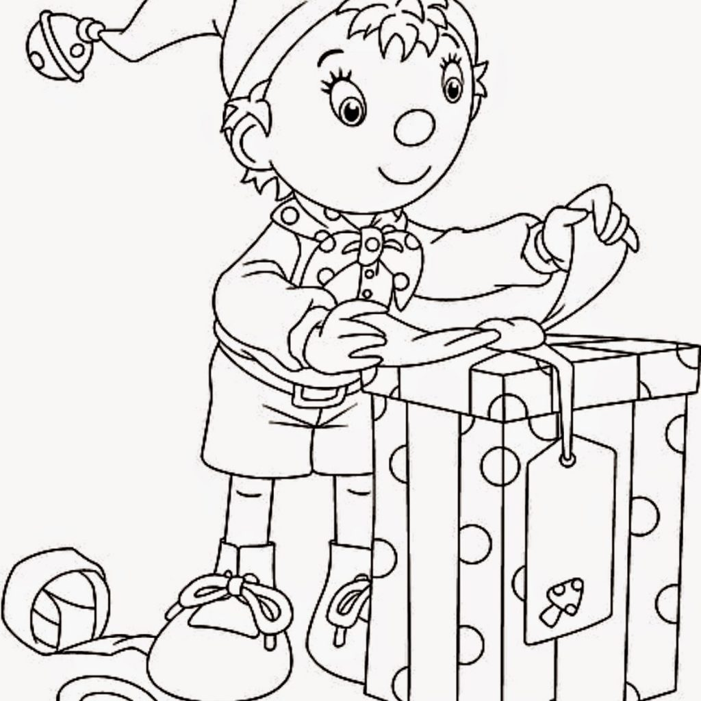 Santa And His Elves Coloring Pages With Claus New Wish List Printable