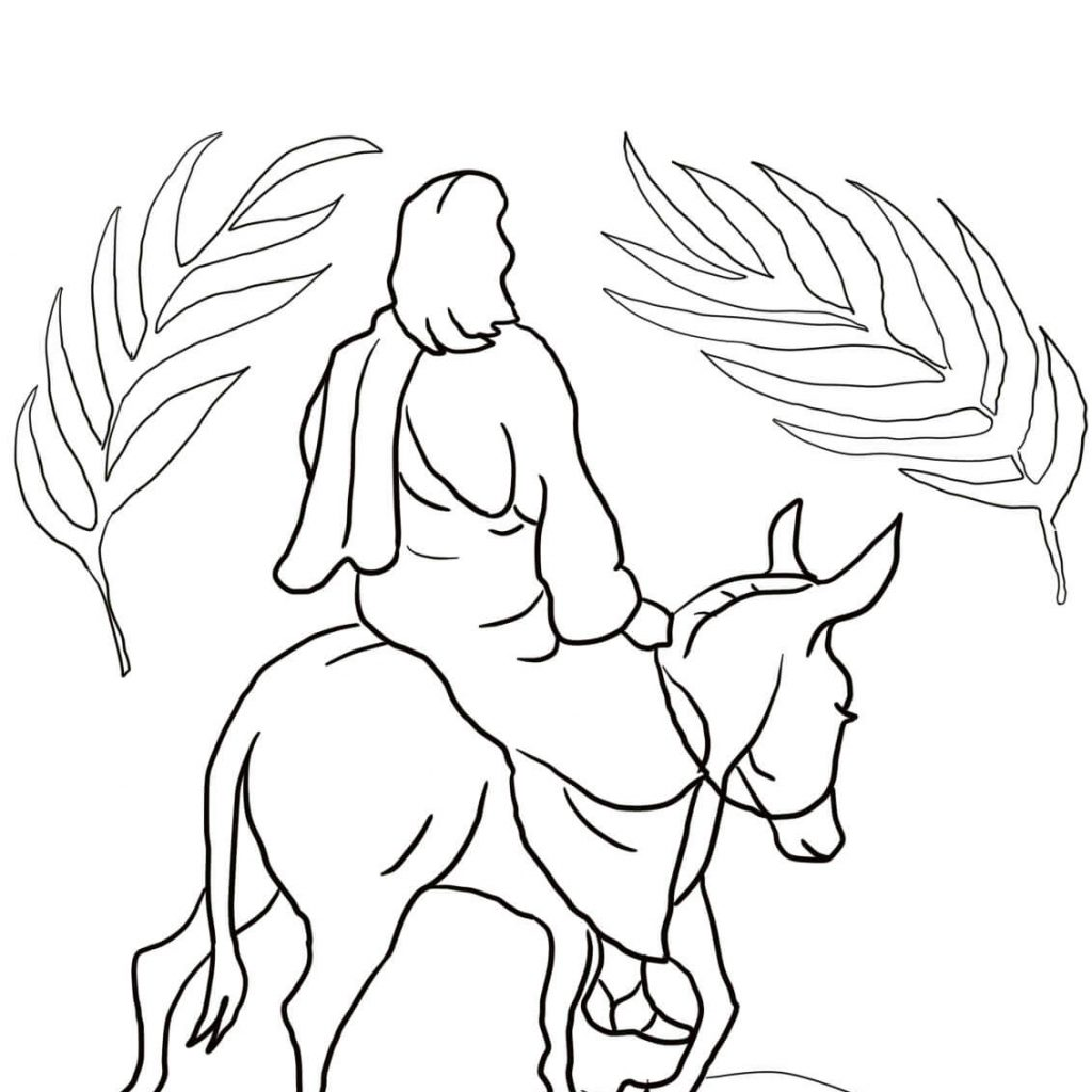 santa-and-jesus-coloring-pages-with-riding-on-a-donkey-page-free-printable