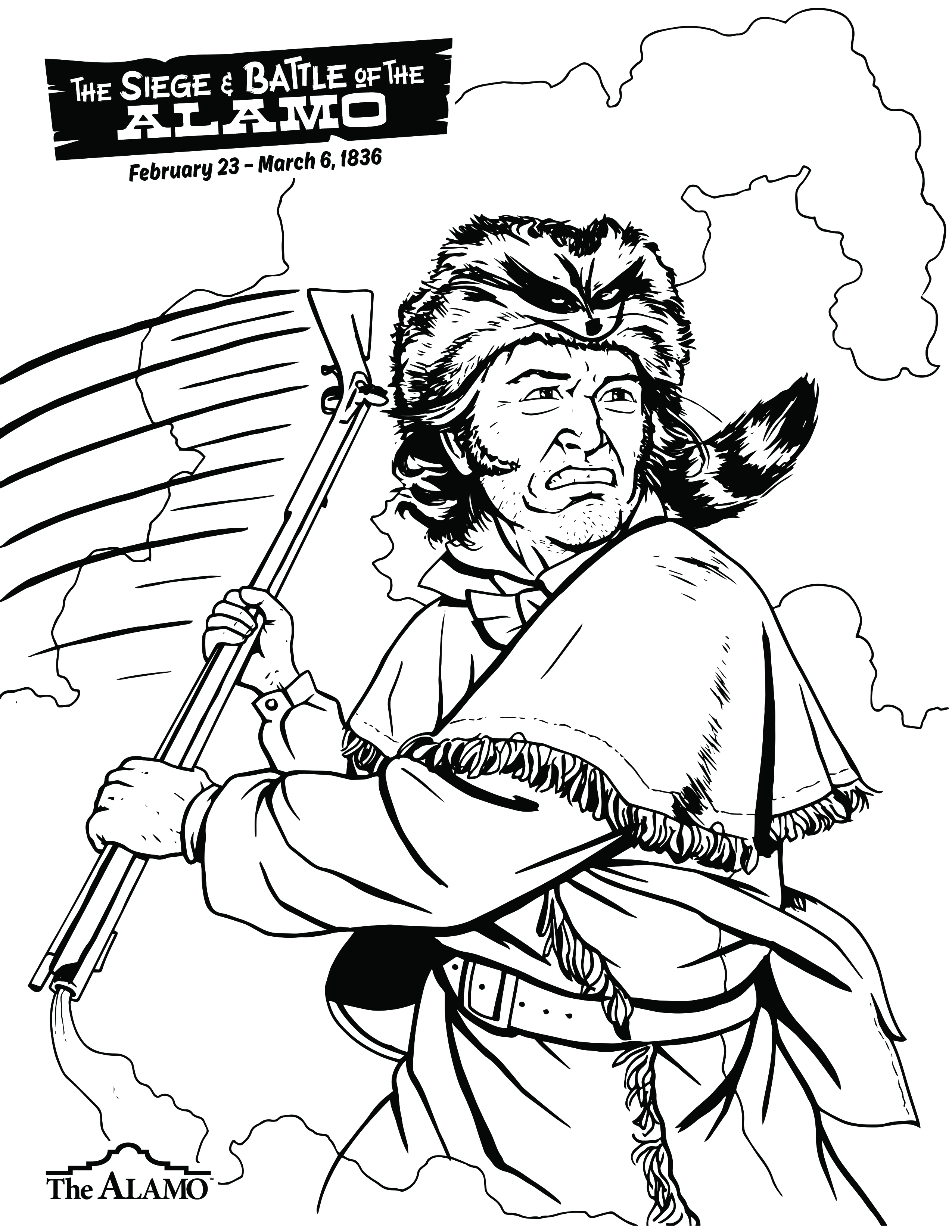 Santa Anna Coloring Page With Alamo Sheets For Children