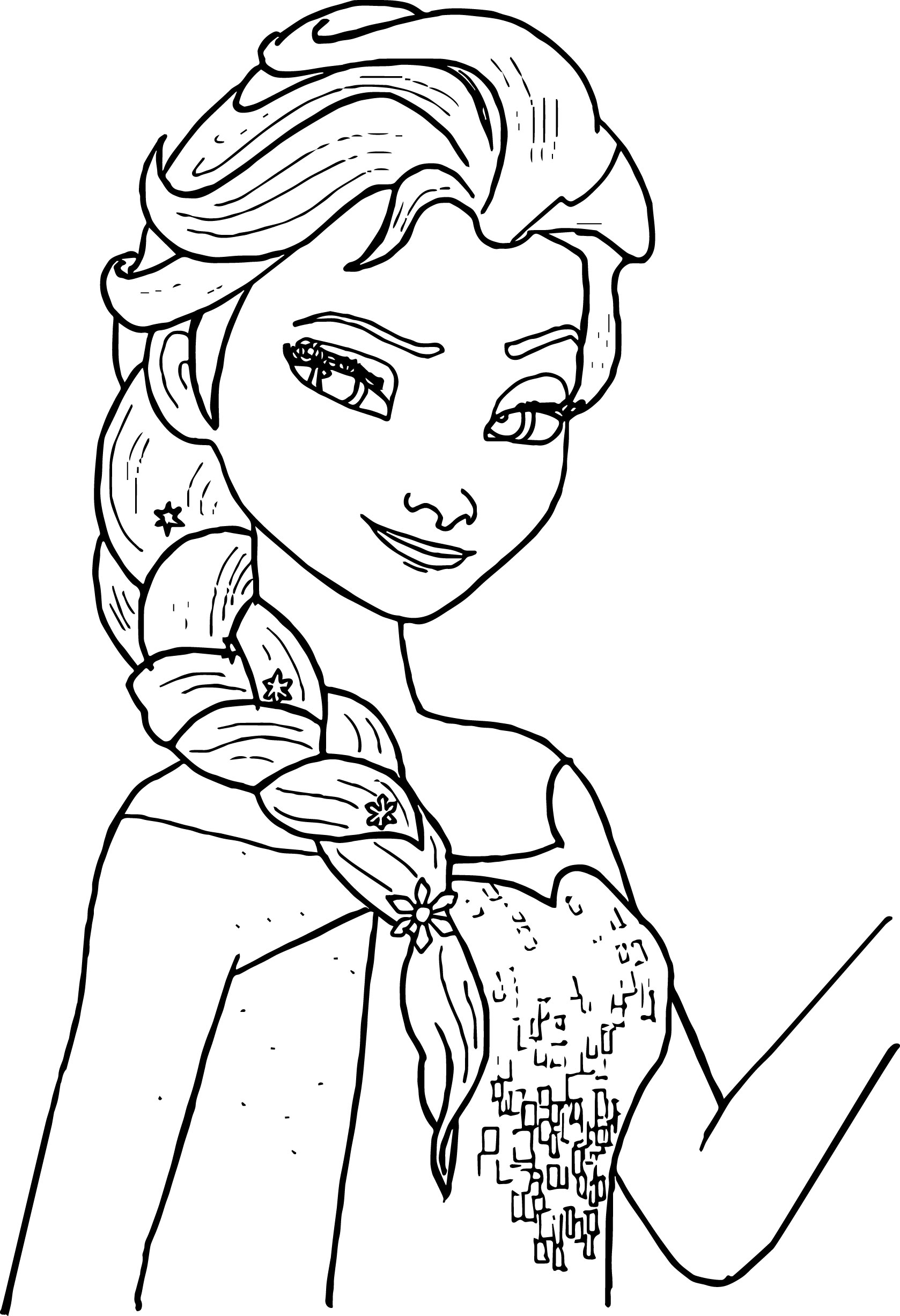 Santa Anna Coloring Page With Elsa Color Sheet Zoro Creostories Co