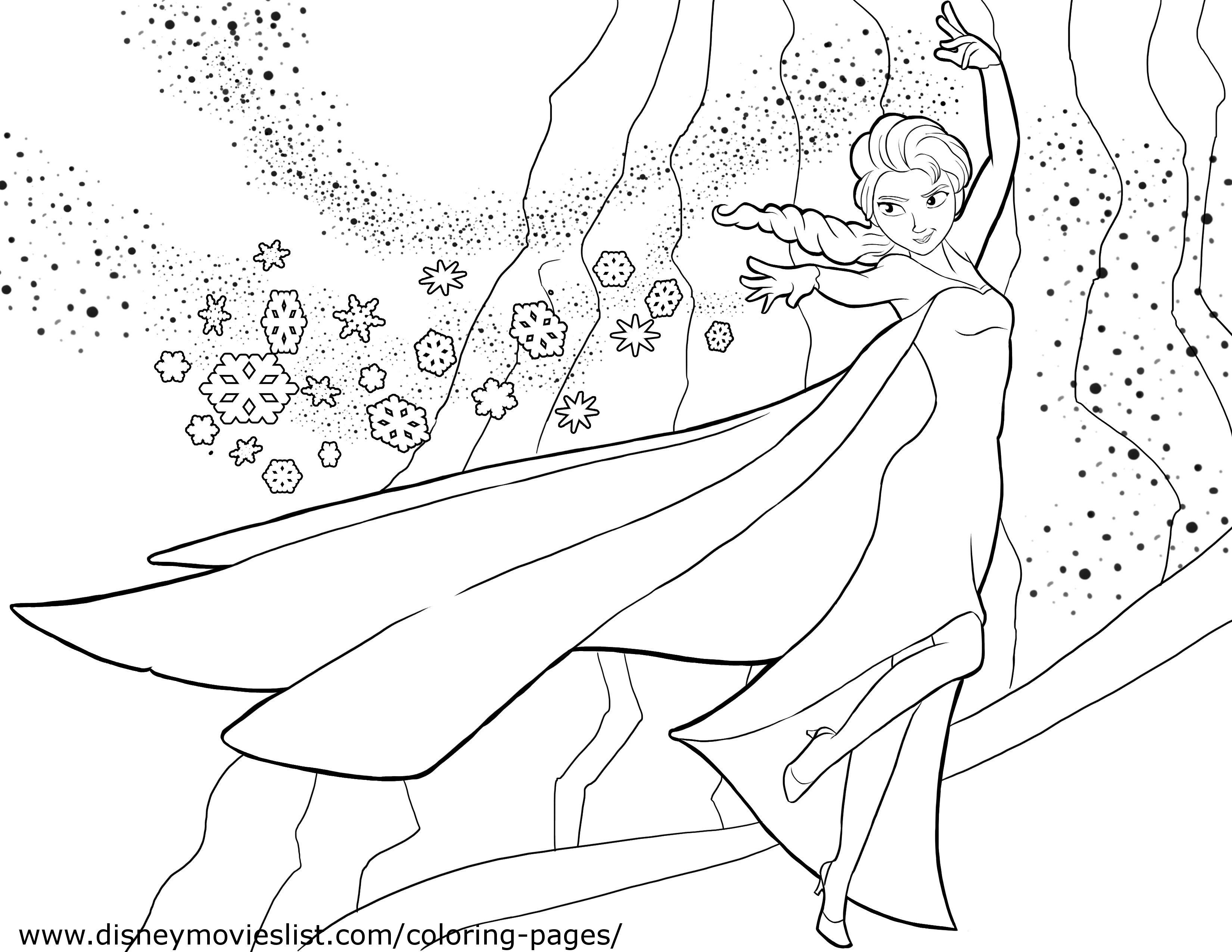 Santa Anna Coloring Page With Elsa Frozen Pages