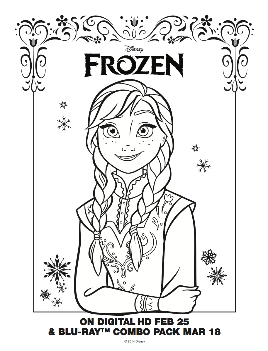 Santa Anna Coloring Page With Frozen Images Sheet HD Wallpaper And Background