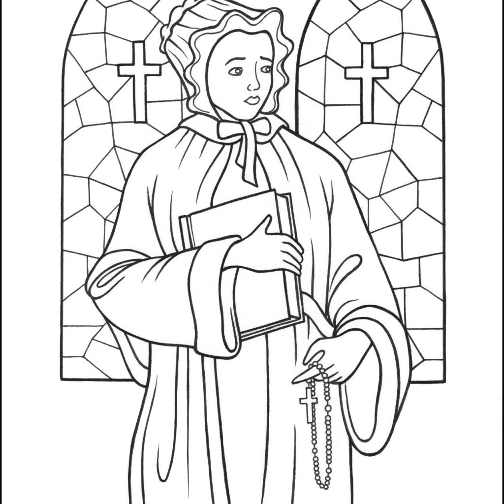 Santa Anna Coloring Page With Saint Elizabeth Ann Seaton The Catholic Kid