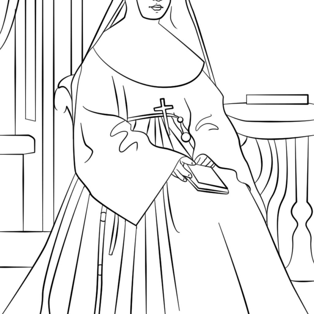 Santa Anna Coloring Page With St Marianne Cope Free Printable Pages