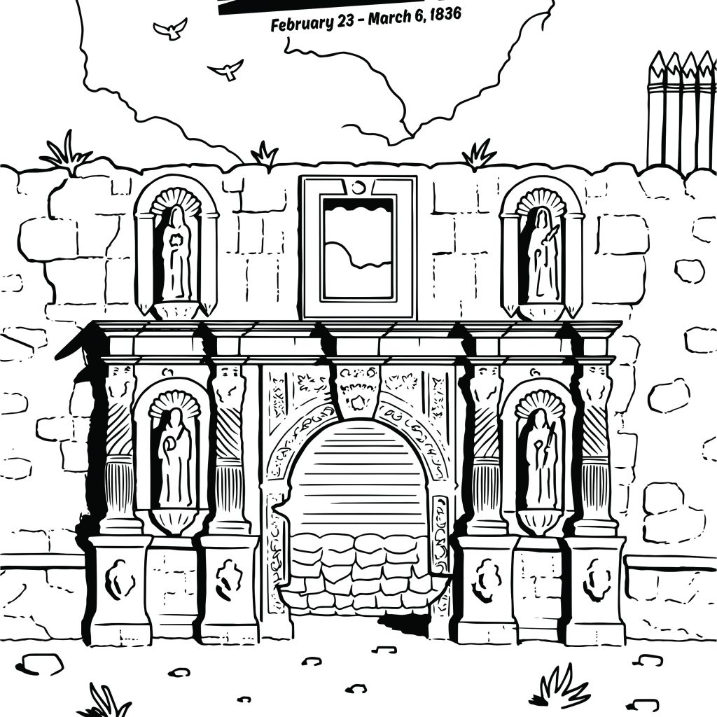 Santa Anna Coloring Pages With Alamo Sheets For Children