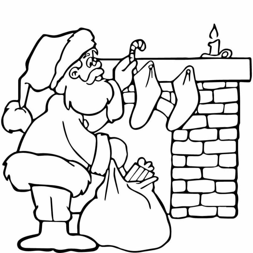 Santa Anna Coloring Pages With Christmas