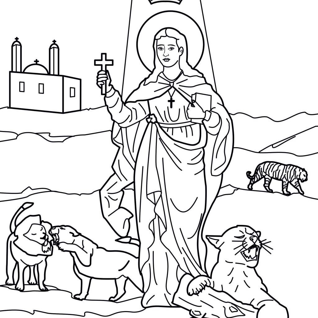 Santa Anna Coloring Pages With Coptic Saints