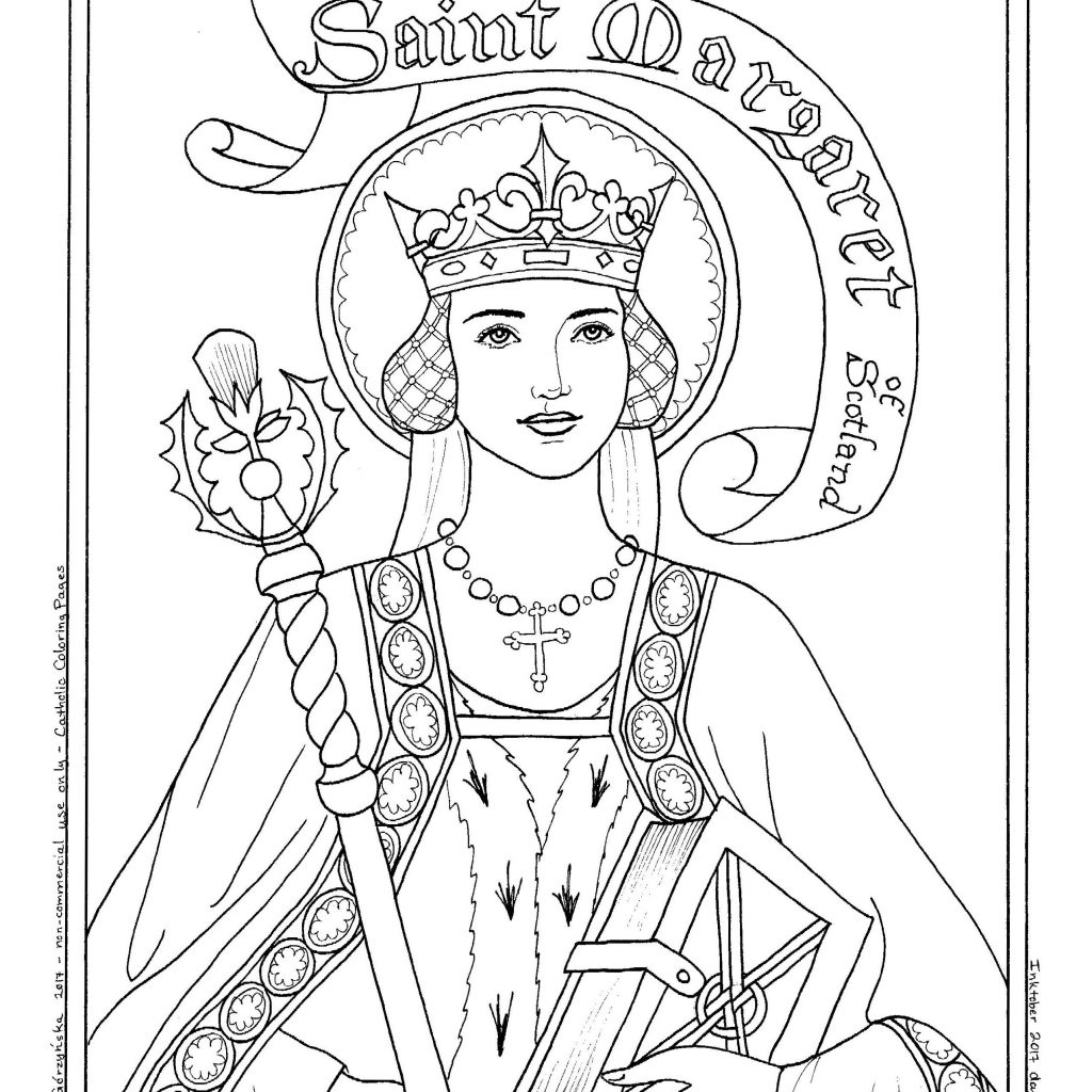 Santa Anna Coloring Pages With Image Result For St Margaret Of Scotland Page Kids