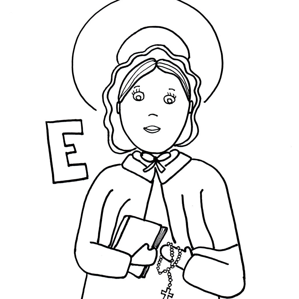 Santa Anna Coloring Pages With St Elizabeth Ann Seton Page Little Flowers Pinterest