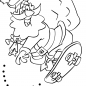 santa-around-the-world-coloring-pages-with-claus-riding-a-skateboard-page-free-printable