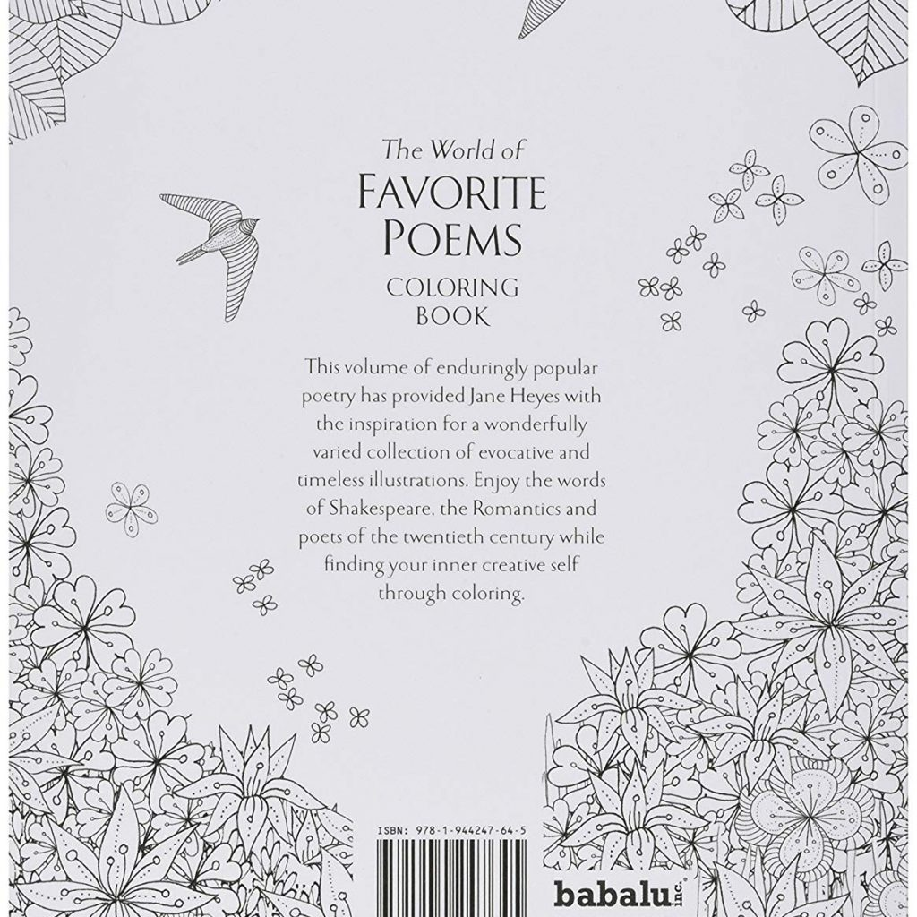 Santa Barbara Coloring Book With Amazon Com Babalu Adult The World Of Favorite Poems