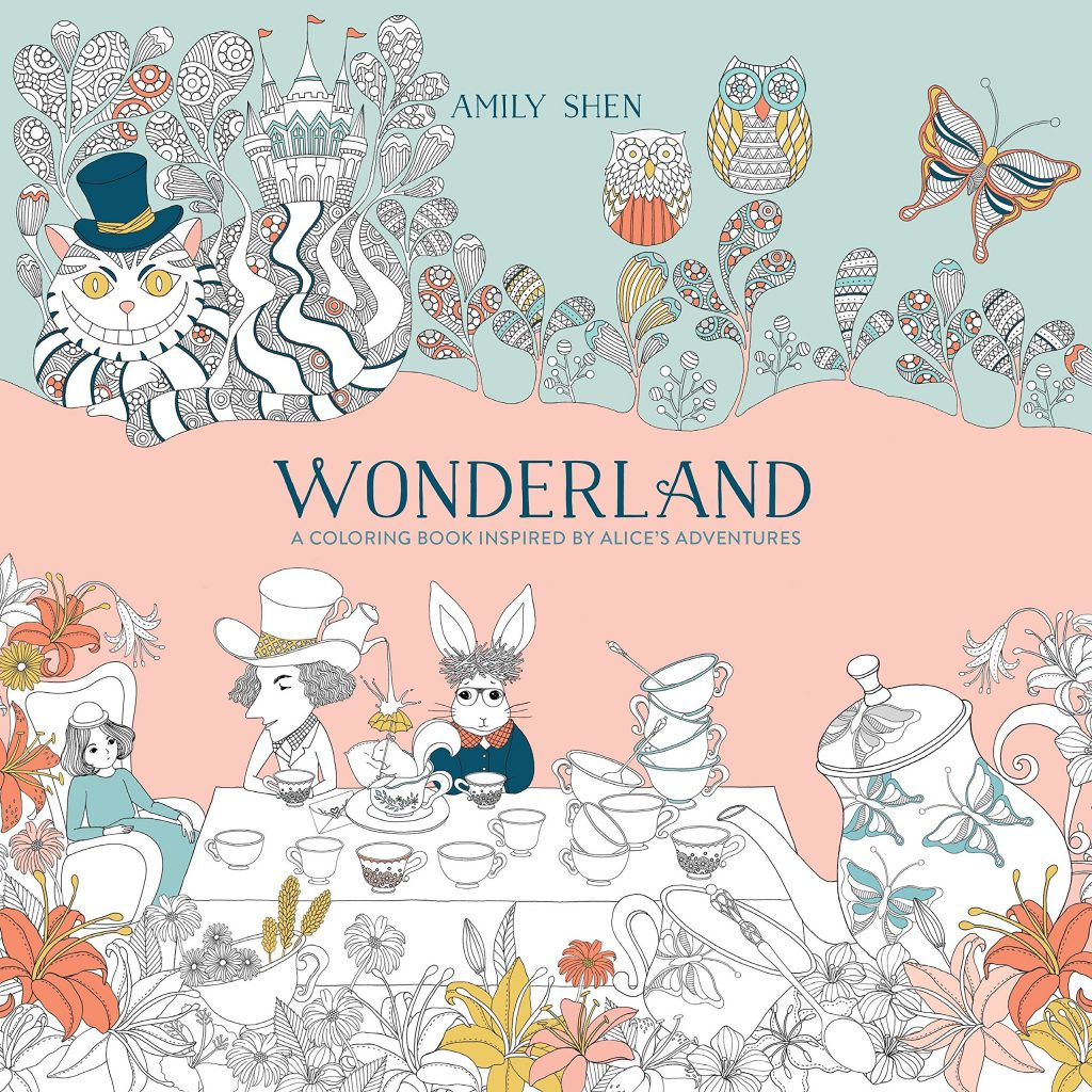 Santa Barbara Coloring Book With Amazon Com Wonderland A Inspired By Alice S