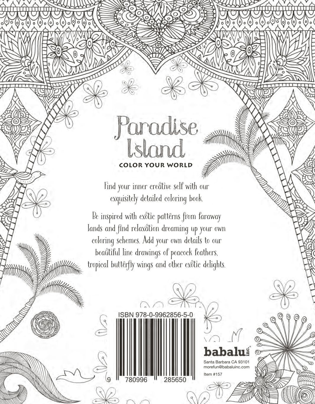 Santa Barbara Coloring Book With Colour Your World Paradise Island Adult EBay