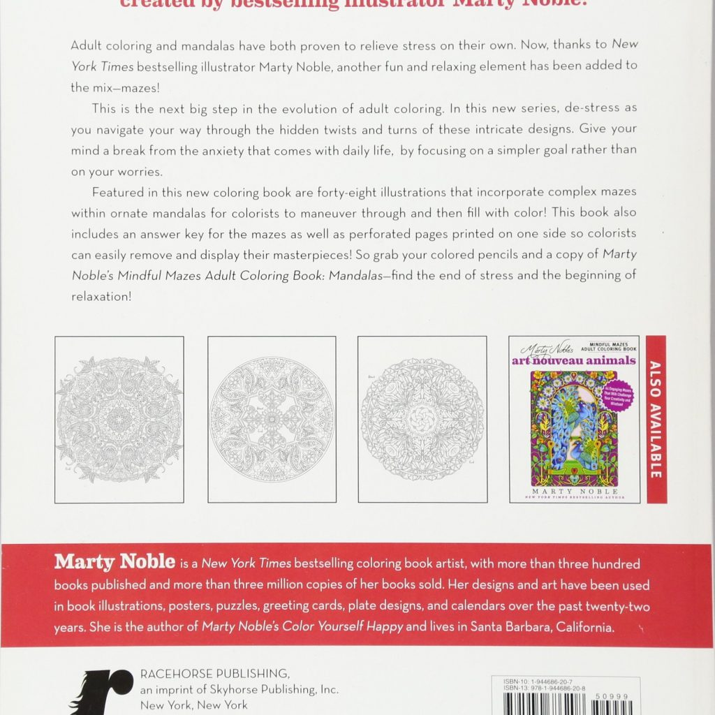 Santa Barbara Coloring Book With Marty Noble S Mindful Mazes Adult Mandalas 48