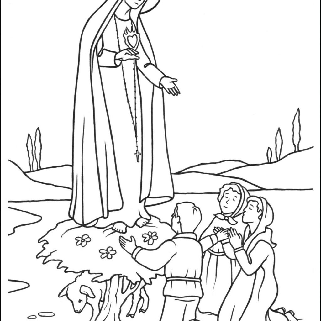 Santa Barbara Mission Coloring Page With Our Lady Of Fatima Mary Pages Pinterest