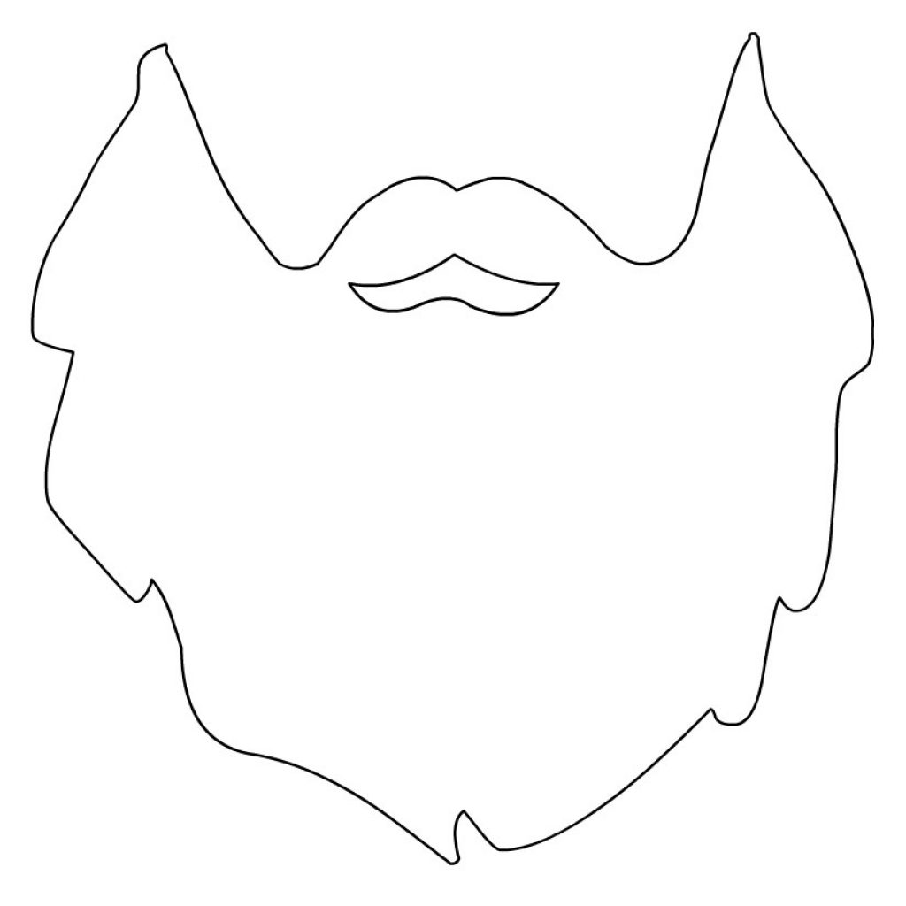Santa Beard Coloring Page With Template Free