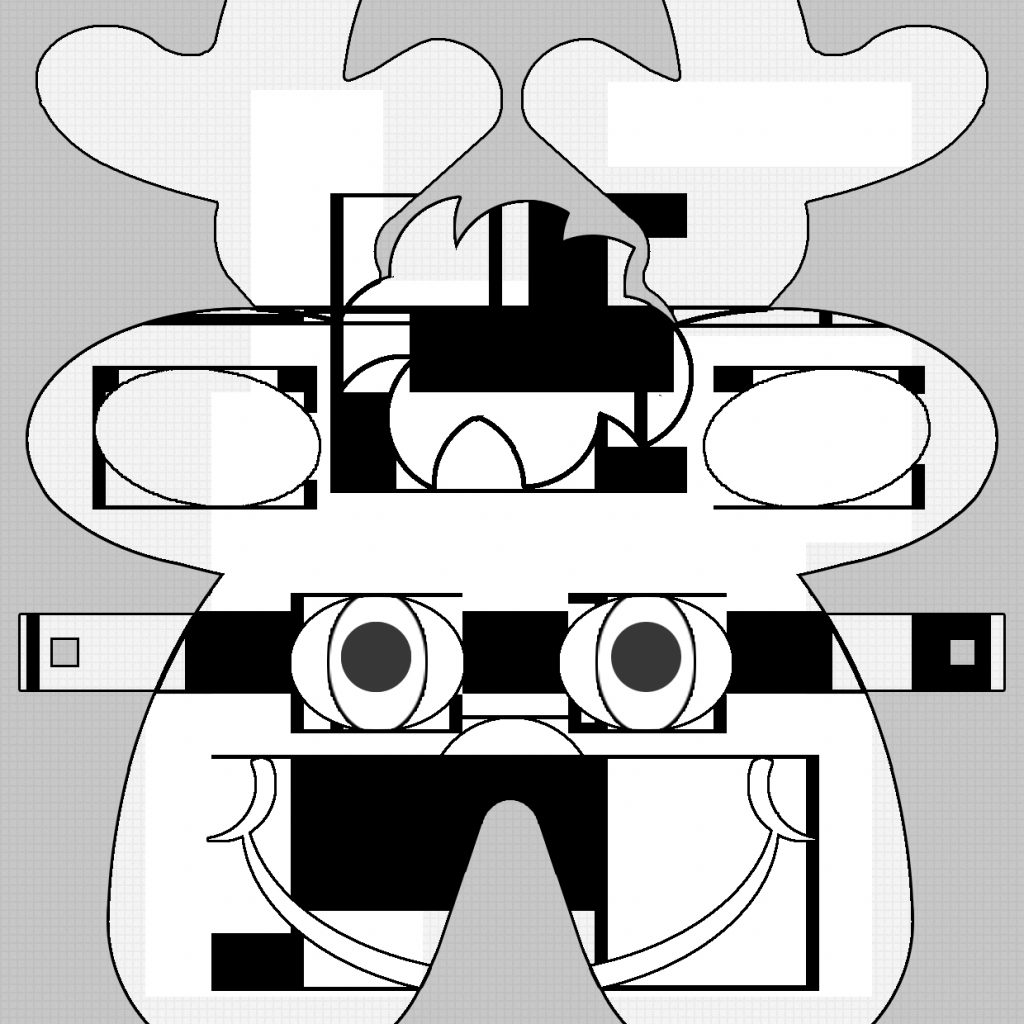 Santa Beard Coloring Page With Value Cut Out Template 13324
