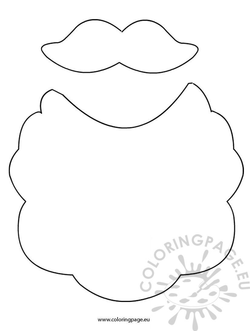 Santa Beard Coloring Page With