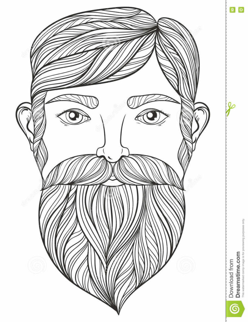 Santa Beard Coloring With Pages 15393