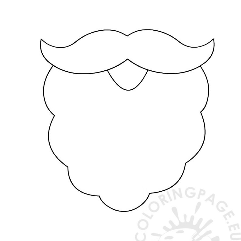 Santa Beard Coloring With Template Page