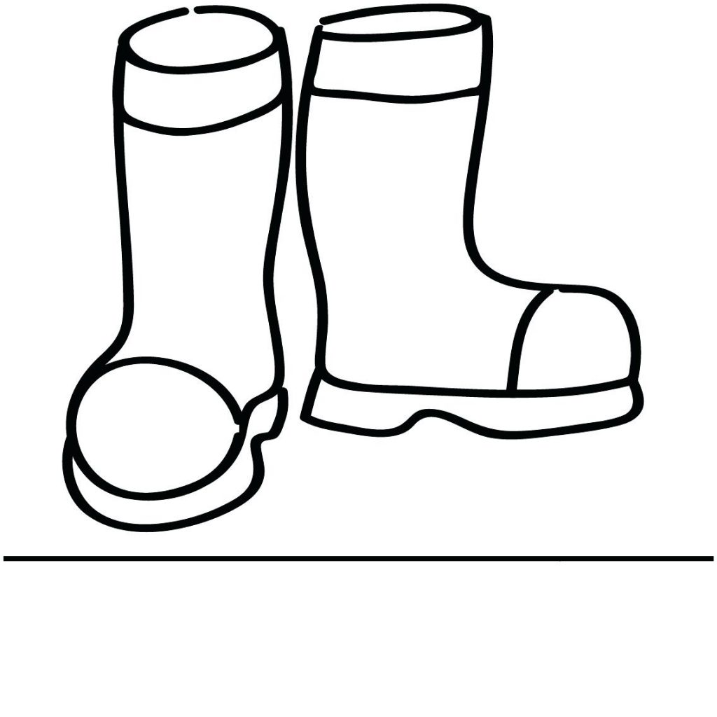 Santa Boot Coloring With Cowgirl Boots Pages Collection Stunning Page