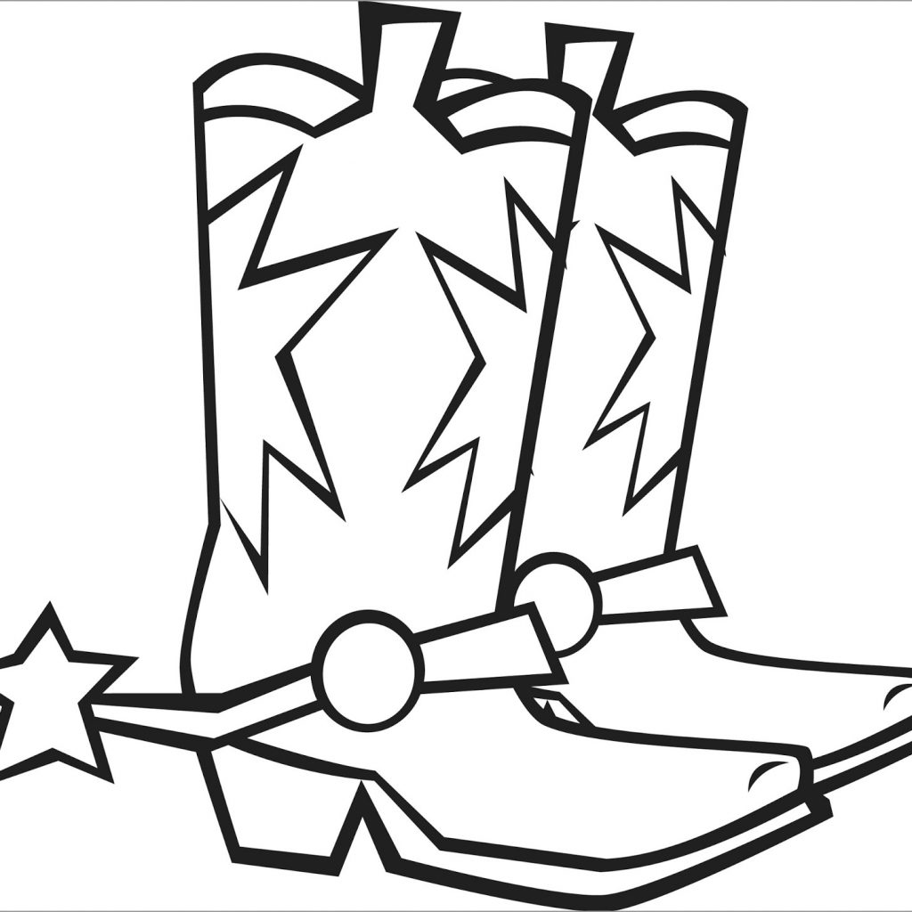 Santa Boots Coloring Pages With ColoringBay