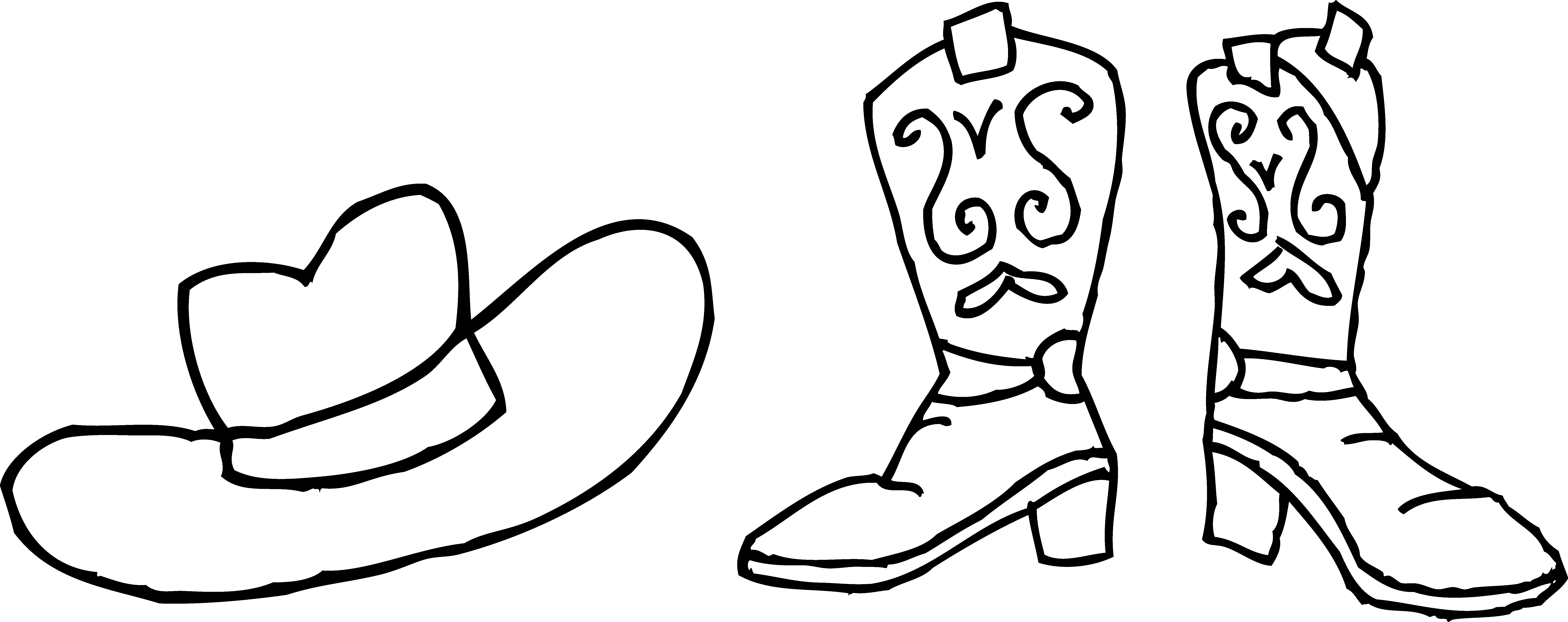 Santa Boots Coloring Pages With Thanksgiving Page Clipart Black And White