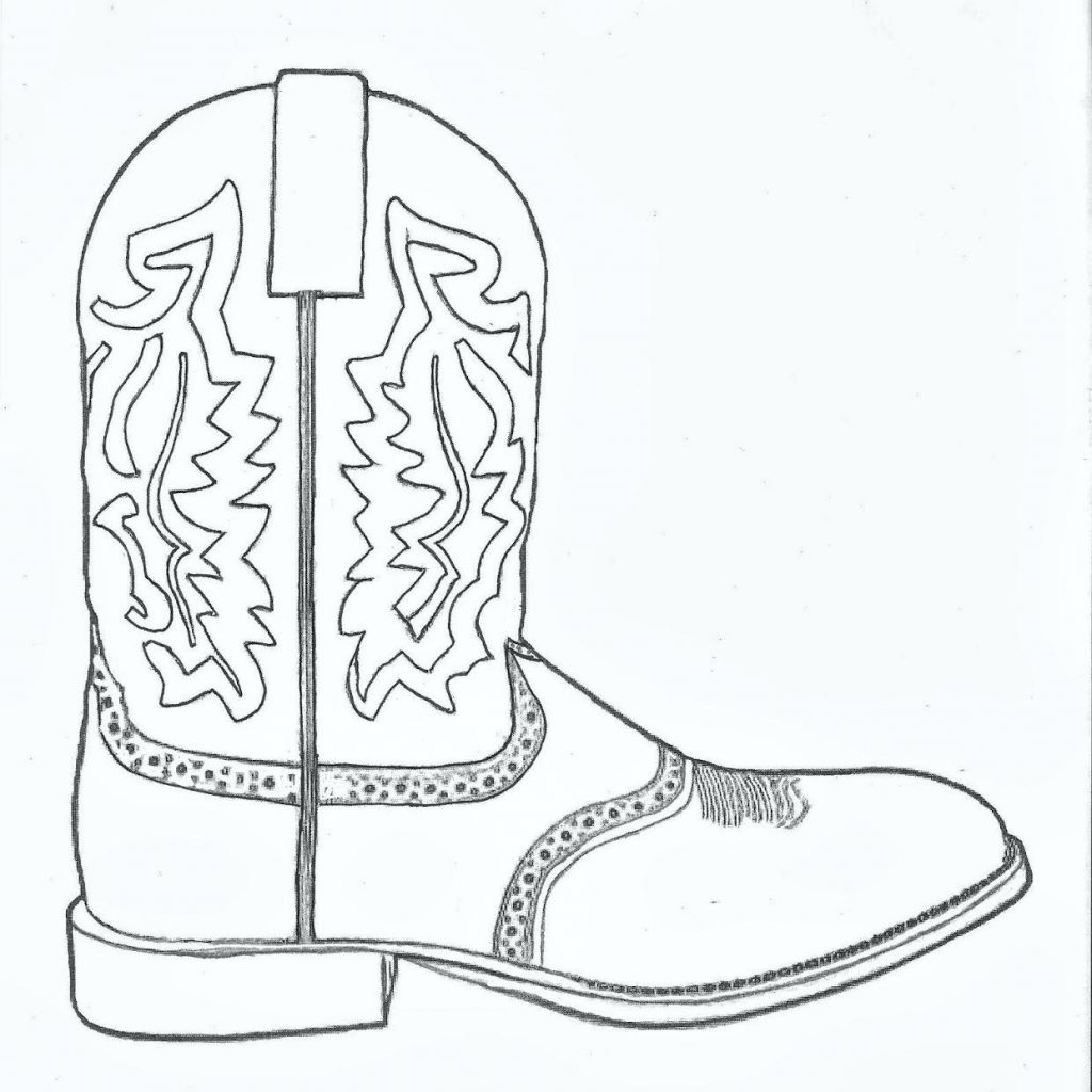 Santa Boots Coloring Sheet With Pages Printable Technep Info