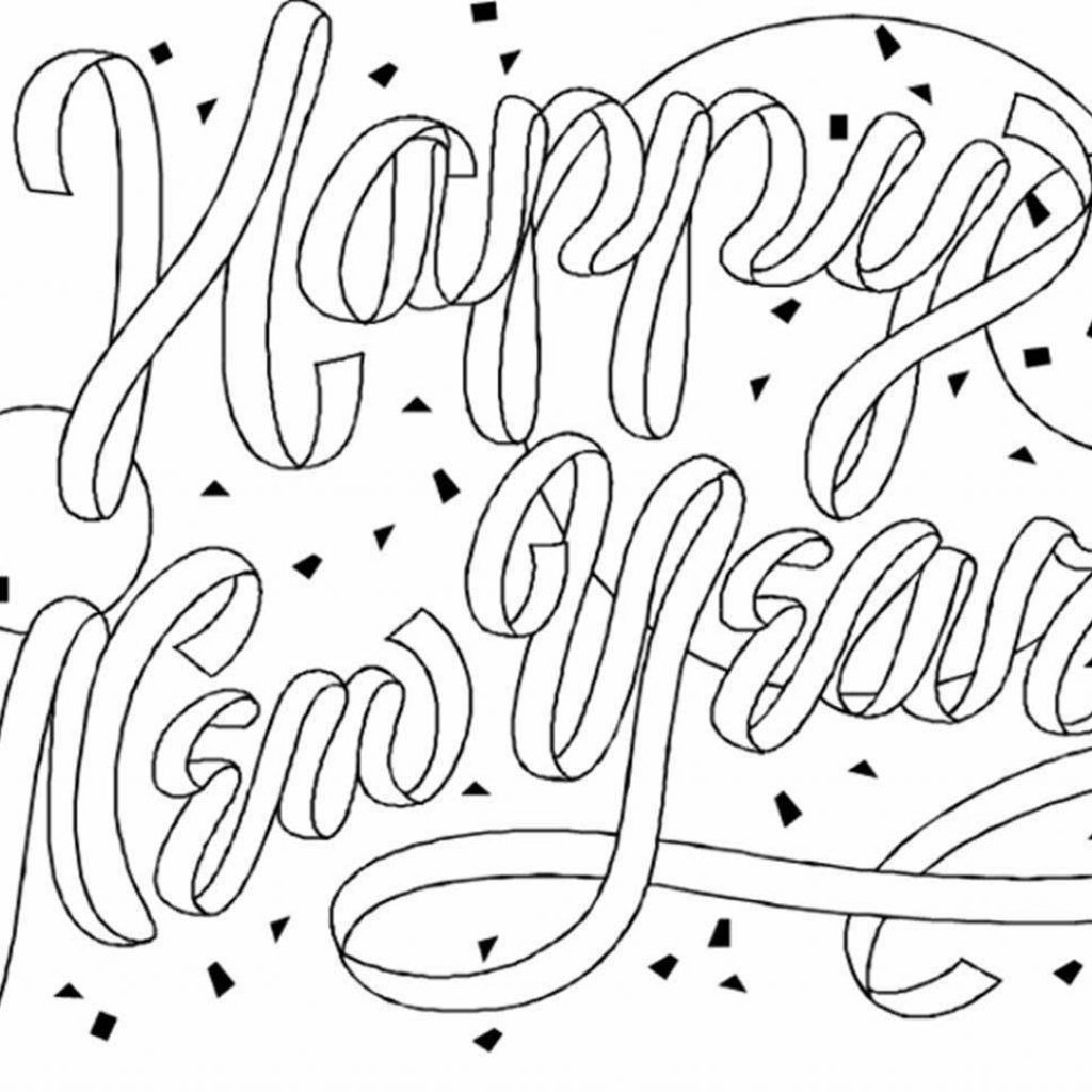 Santa Buddies Coloring Pages With 2019 Happy New Year Wish You A Very