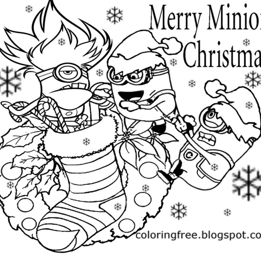 Santa Buddies Coloring Pages With LETS COLORING BOOK Cool Merry Christmas Minions For
