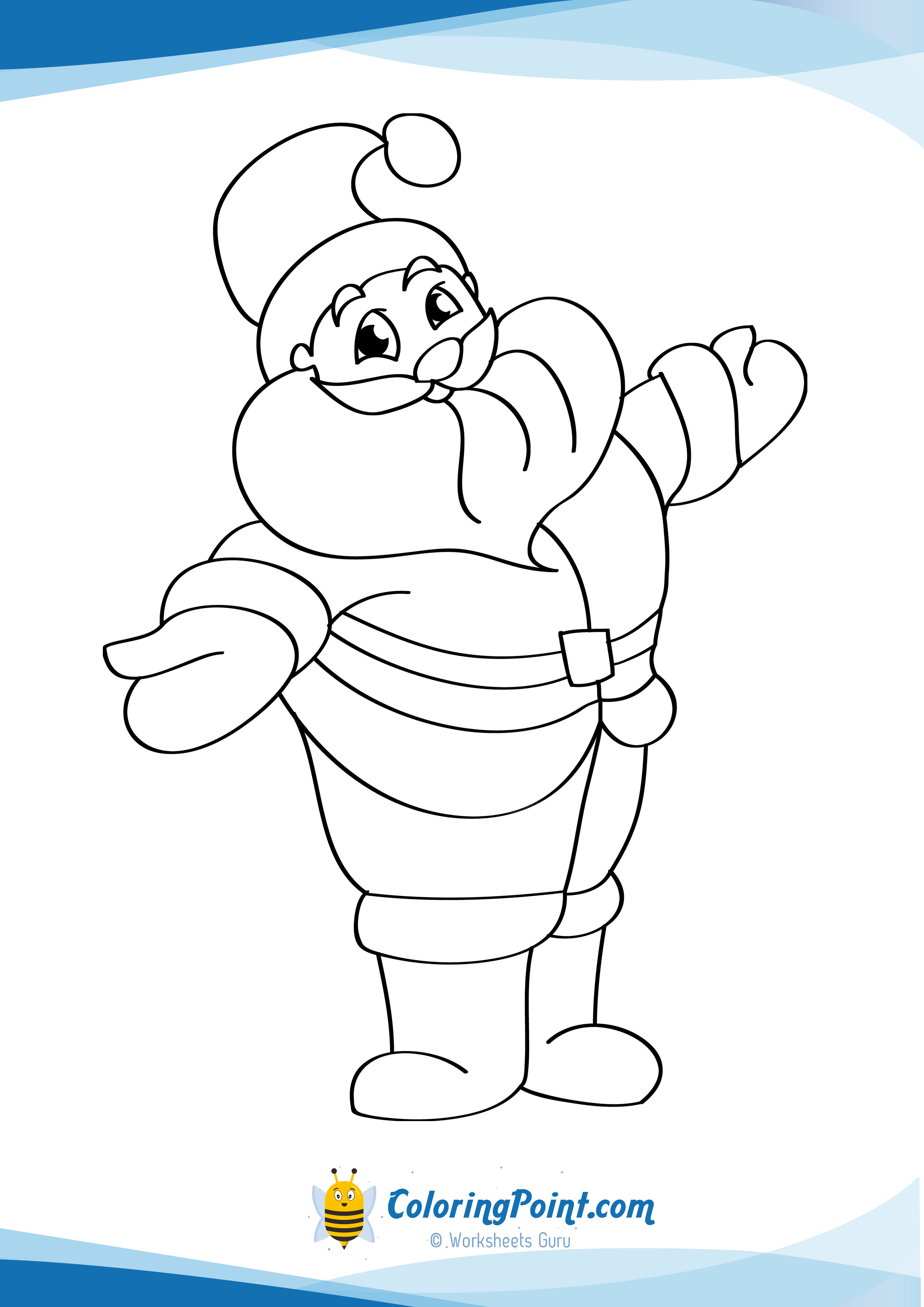 Santa Chimney Coloring Page With 42 Inspiring Photo Of Claus Pages