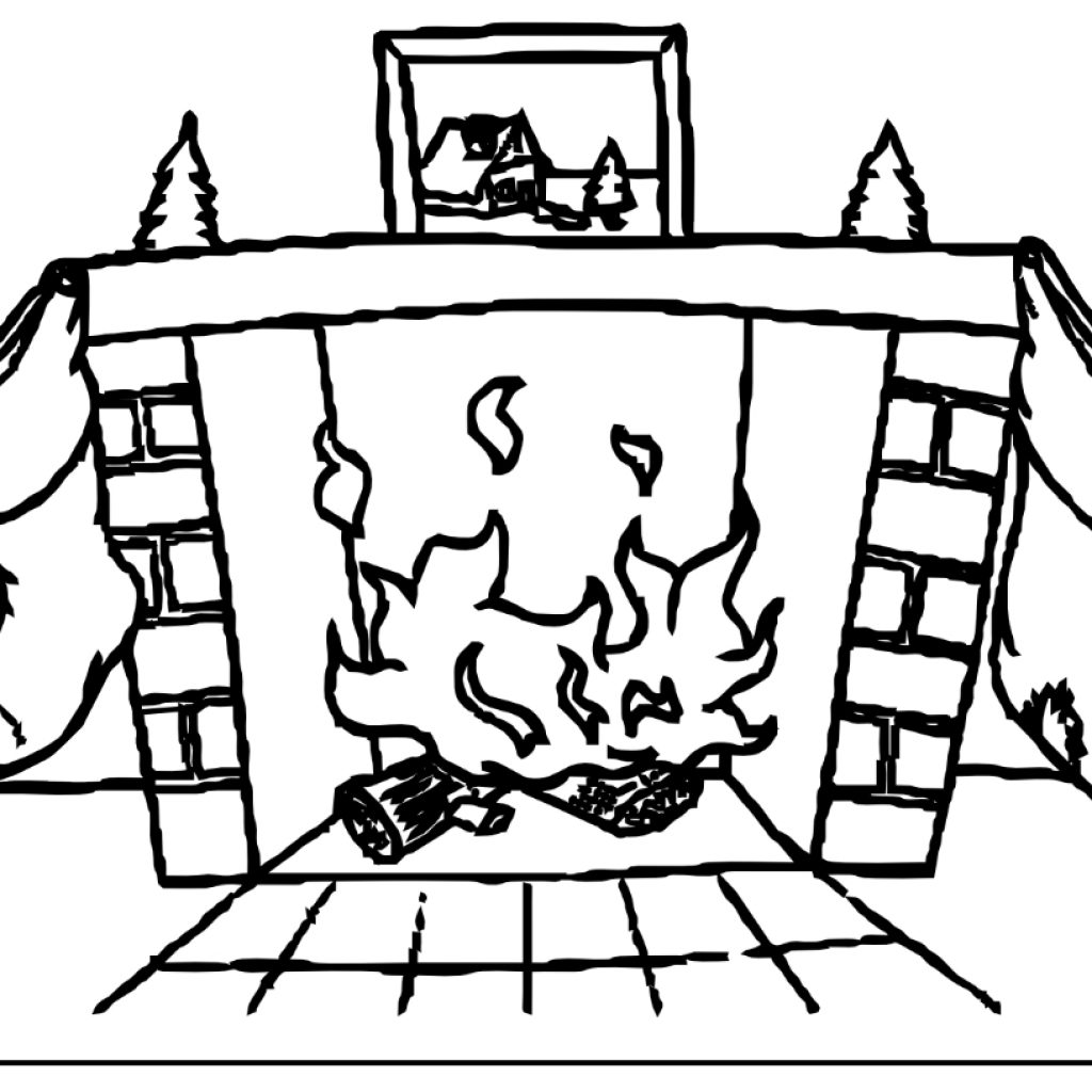 Santa Chimney Coloring Page With Christmas My Land