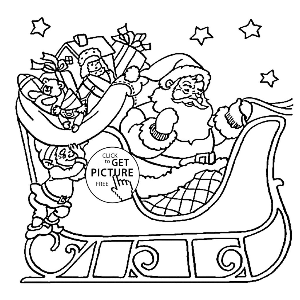 Santa Christmas List Coloring Page With Claus Pages Gallery Free Books