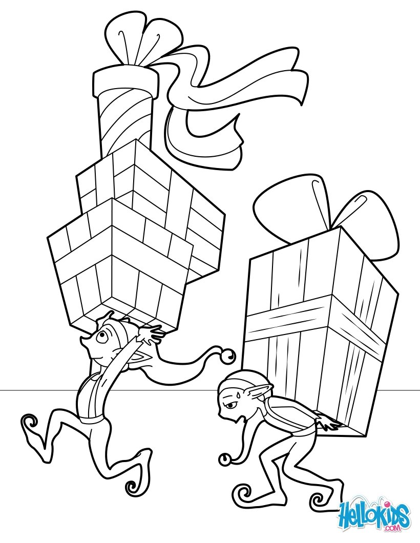Santa Claus And Elves Coloring Pages With SANTA S HELPERS 48 Printables To Color Online For