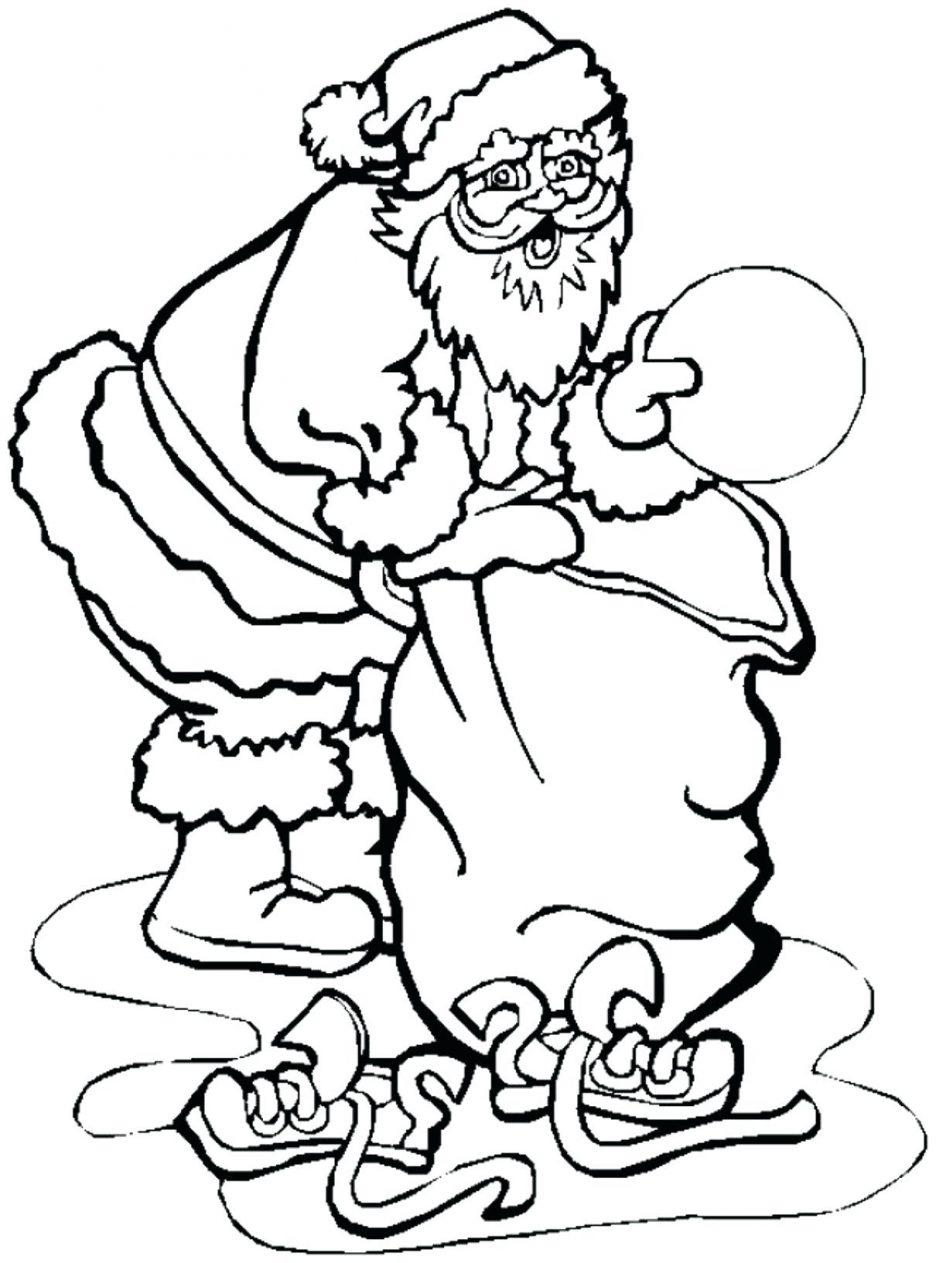 Santa Claus And Rudolph Coloring Pages With Top 10 Printable For Kids