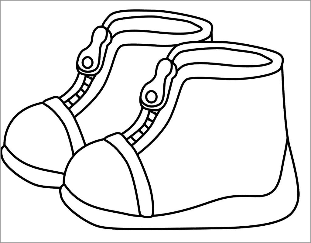 Santa Claus Boots Coloring Pages With ColoringBay