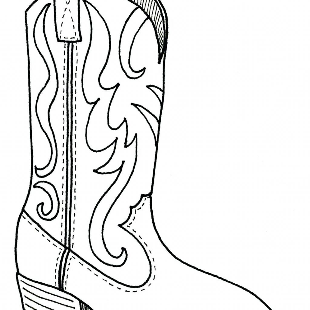 Santa Claus Boots Coloring Pages With Cowgirl Collection Stunning Boot Page