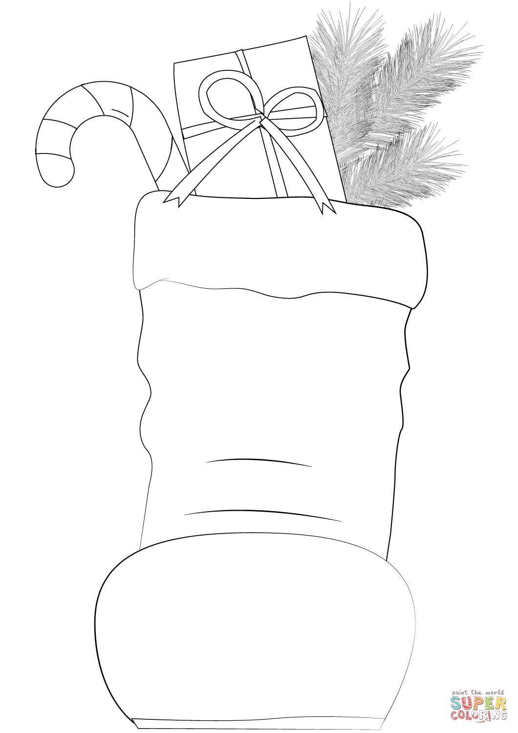 Santa Claus Boots Coloring Pages With Page Free Printable