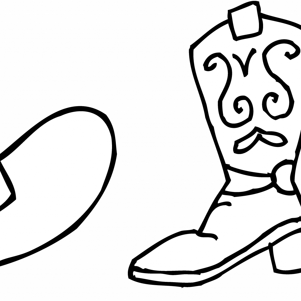 Santa Claus Boots Coloring Pages With Thanksgiving Page Clipart Black And White