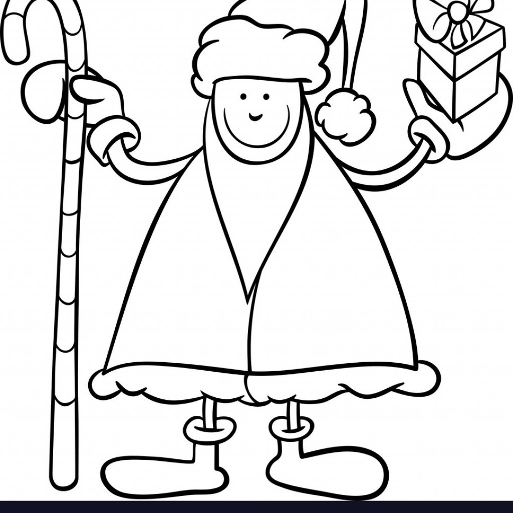 Santa Claus Cartoon Coloring Pages With Page Royalty Free Vector Image