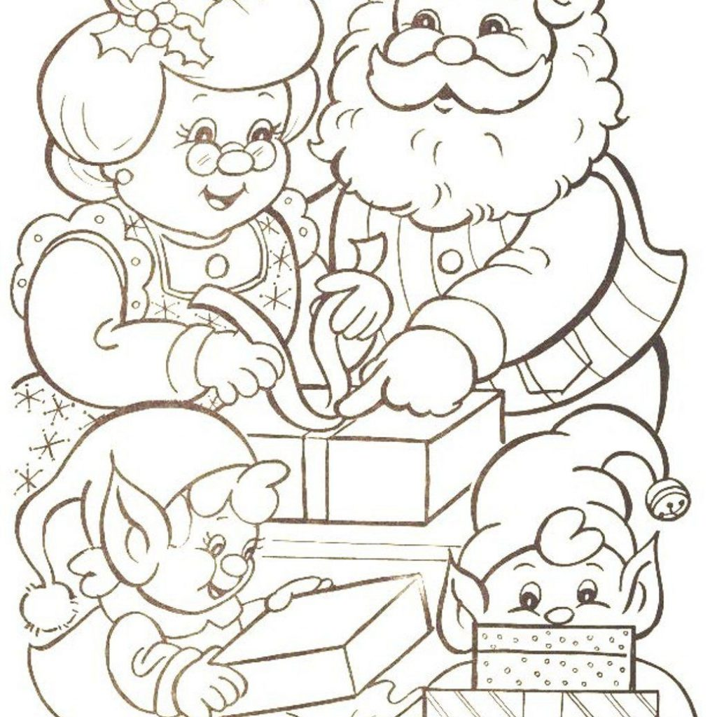 Santa Claus Christmas Coloring Pages With Families Of Mr