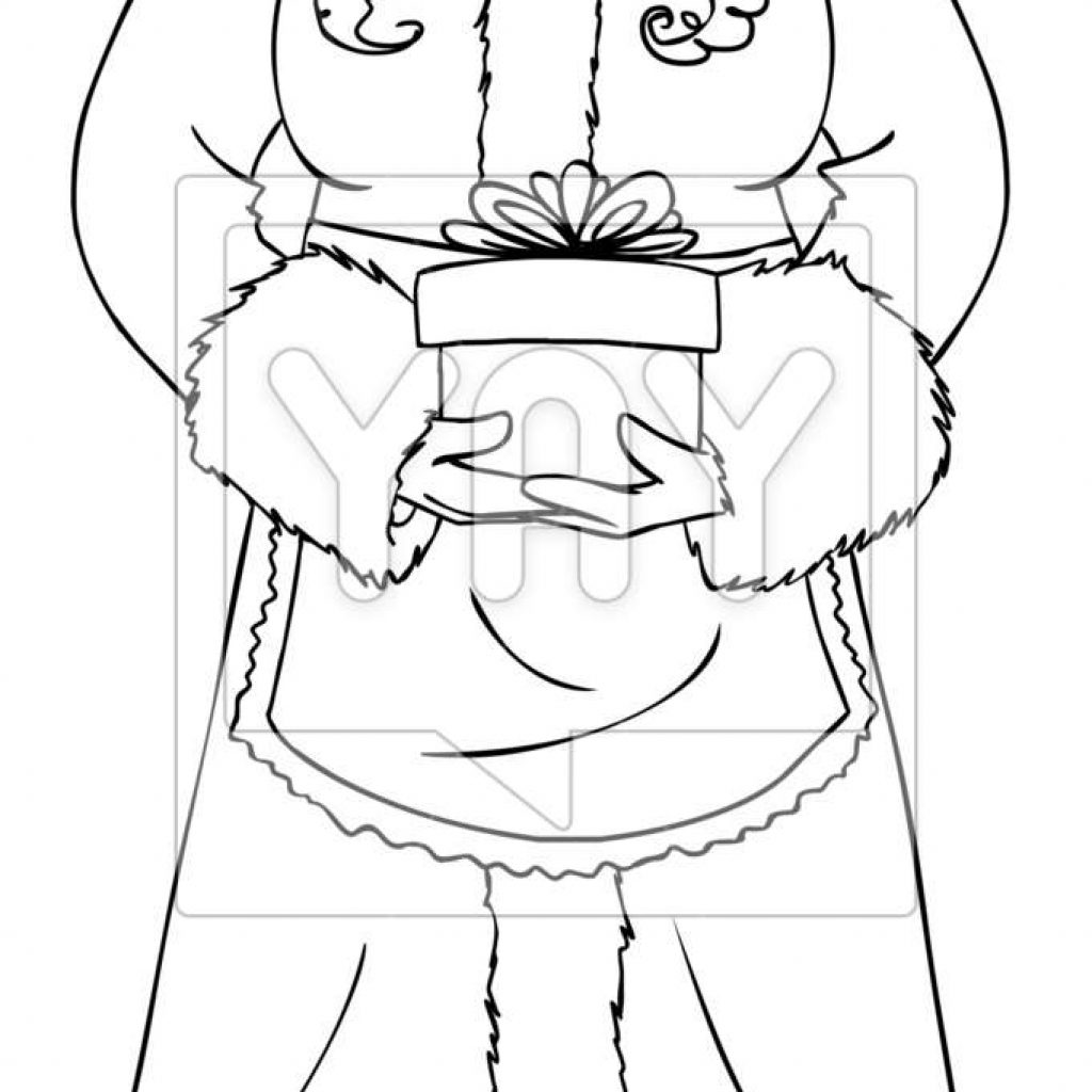 santa-claus-christmas-coloring-pages-with-mrs-holding-a-present-for-page-vector