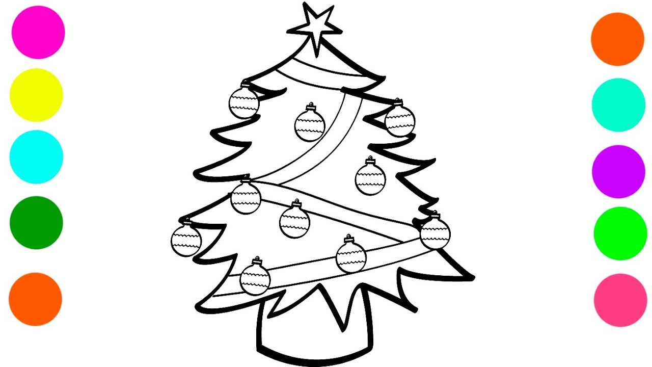Santa Claus Christmas Tree Coloring Pages With For Kids