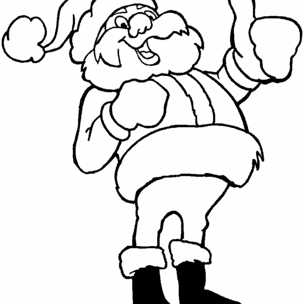 Santa Claus Coloring Face With Awesome Cartoon Pages Design Printable