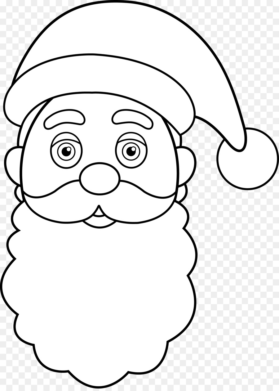 Santa Claus Coloring Face With Drawing Suit Book Clip Art